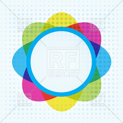 400x400 Abstract wavy circle on dotted background Royalty Free Vector Clip