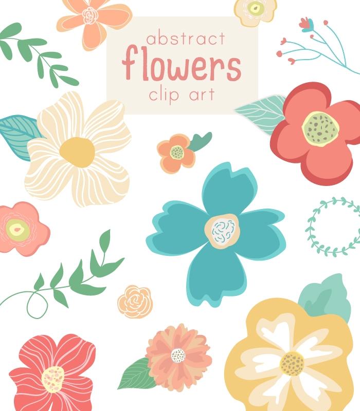 700x800 Clipart Of Cute Flowers Cute Flower Vector Clip Art Abstract