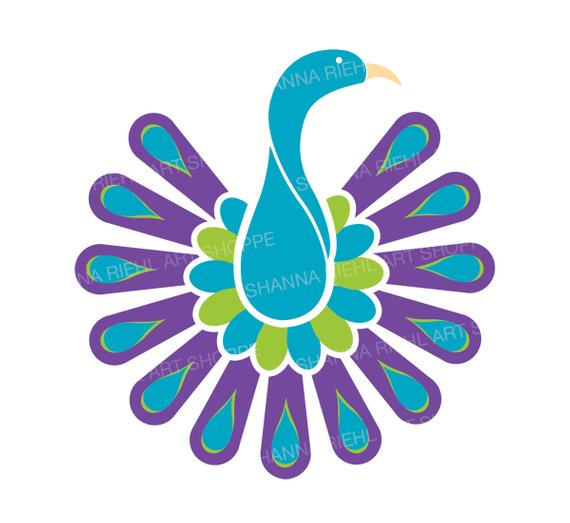570x523 Peacock Clipart Commercial Use Abstract Bird Clip Art Exotic