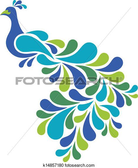 469x570 Abstract Peacock Clipart Clip art, Art illustrations and Peacocks