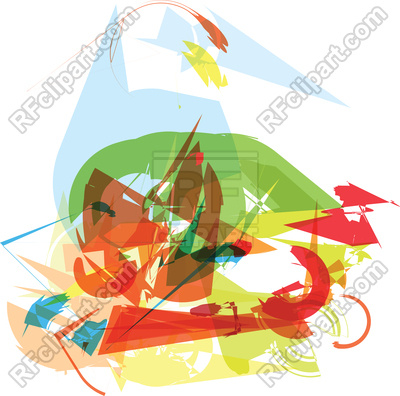 400x396 Abstract art background Royalty Free Vector Clip Art Image