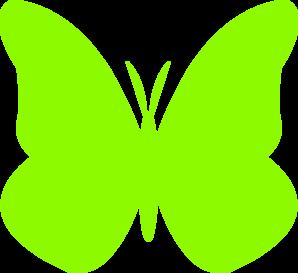 298x273 Lime Green Butterfly Clip Art