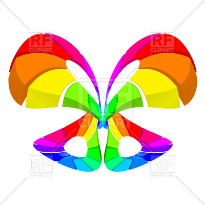 400x400 Abstract Colorful Butterfly Like Design Royalty Free Vector Clip