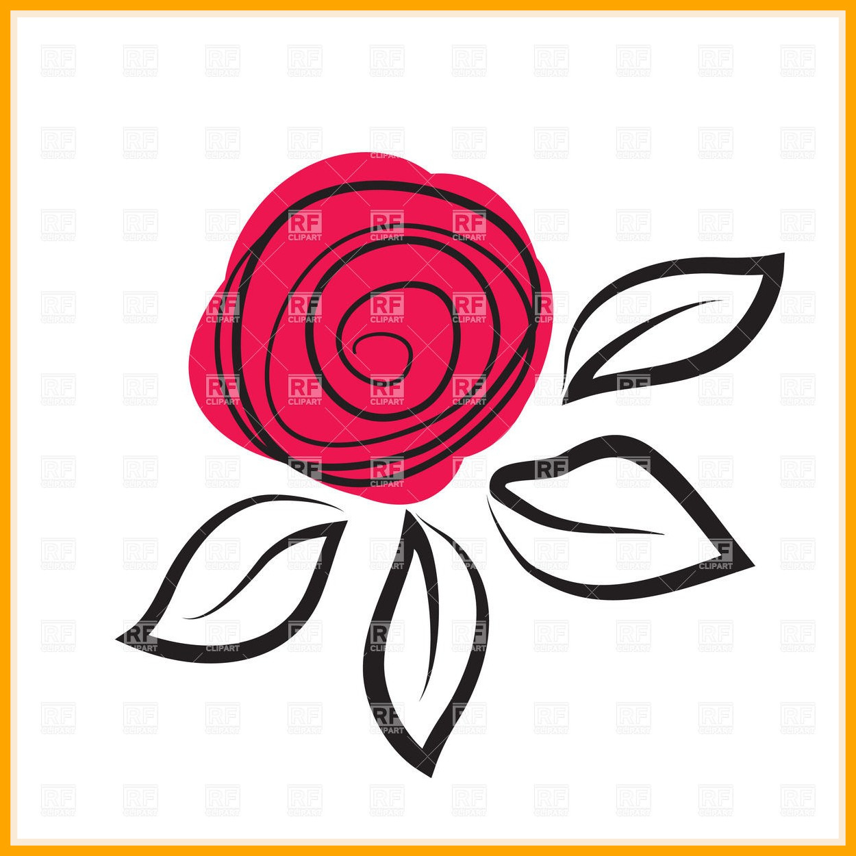 1250x1250 Awesome Abstract Rose Flower Royalty Vector Clip Art Image