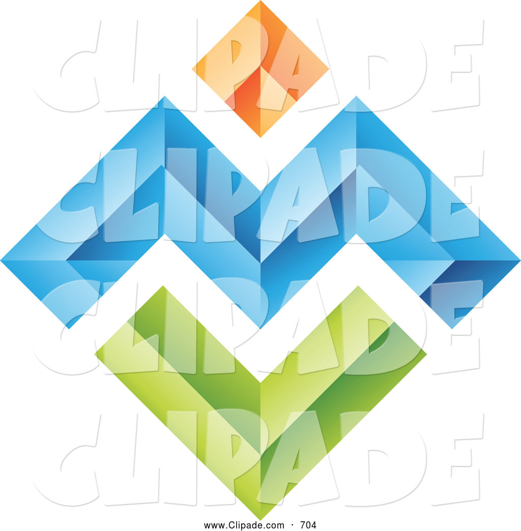 1024x1044 Clip Art Of A Set Of 3d Abstract Colorful Walls Logo Icon By