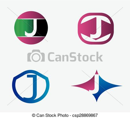 450x411 Abstract J Round Logo Design Template. Vector Creative Clip Art