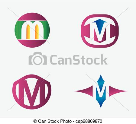 450x411 Abstract M Round Logo Design Template. Vector Creative Vectors