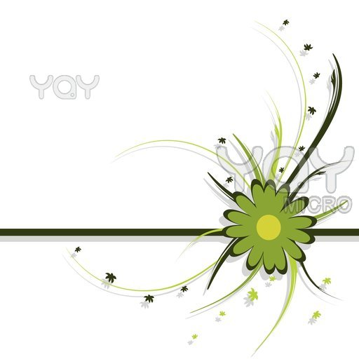 512x512 Floral Design Green Abstract Background C Free Images