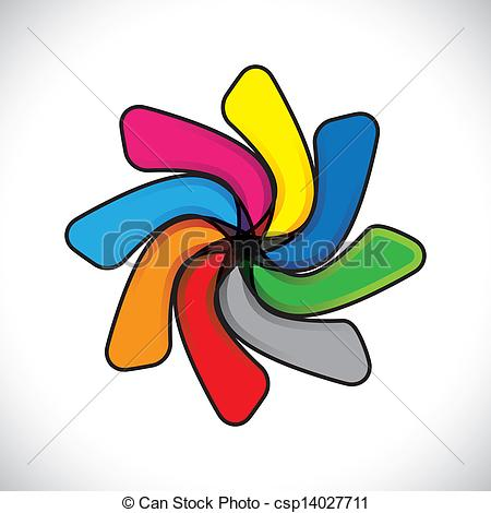 450x470 Abstract Colorful Child Toy Colgadura(Whirligig) Vector Vector