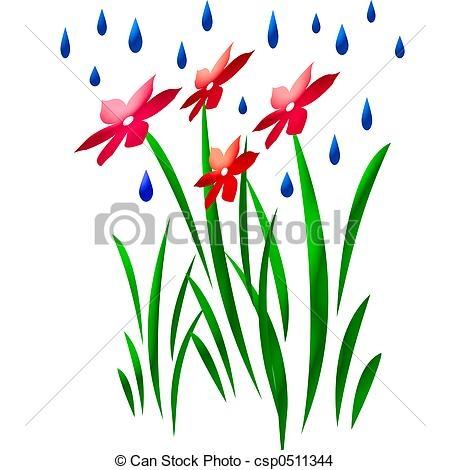 450x470 Clip Art Flower Rain Rain Flowers Abstract Art Rain Falling