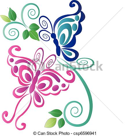 450x470 Collection Of Abstract Butterfly Clipart High Quality, Free