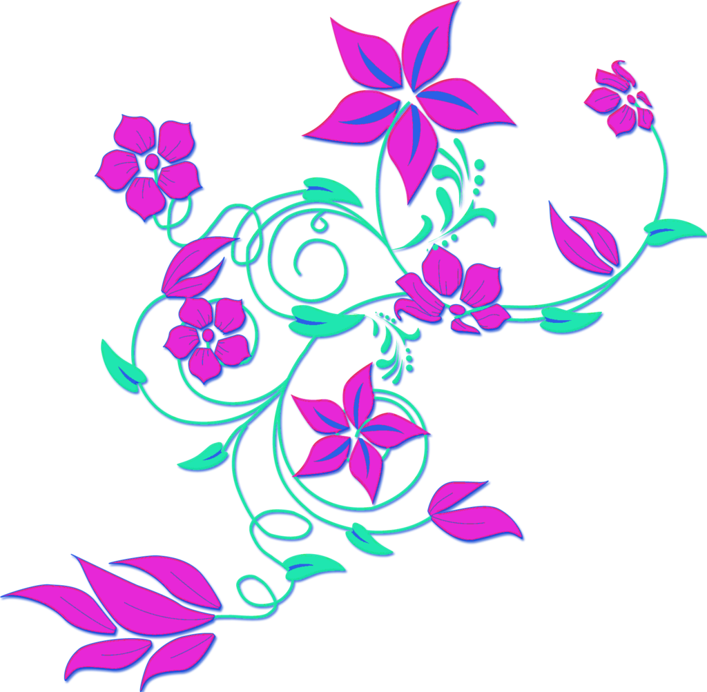 1024x1003 Flower Border Clipart Png