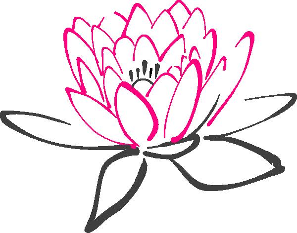600x472 Pink Abstract Lotus Clip Art