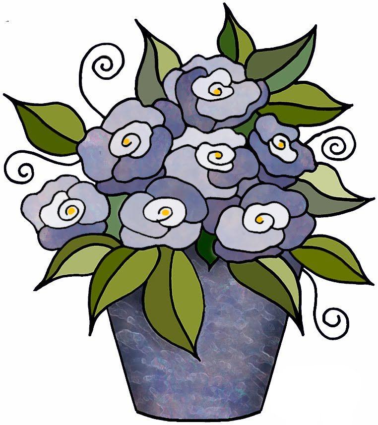 762x857 Artbyjean Clipart Flower Pot Flower Blossoms In A Flower Pot