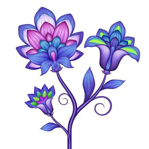 500x500 Geometric Flower, Clip Art And Patterns