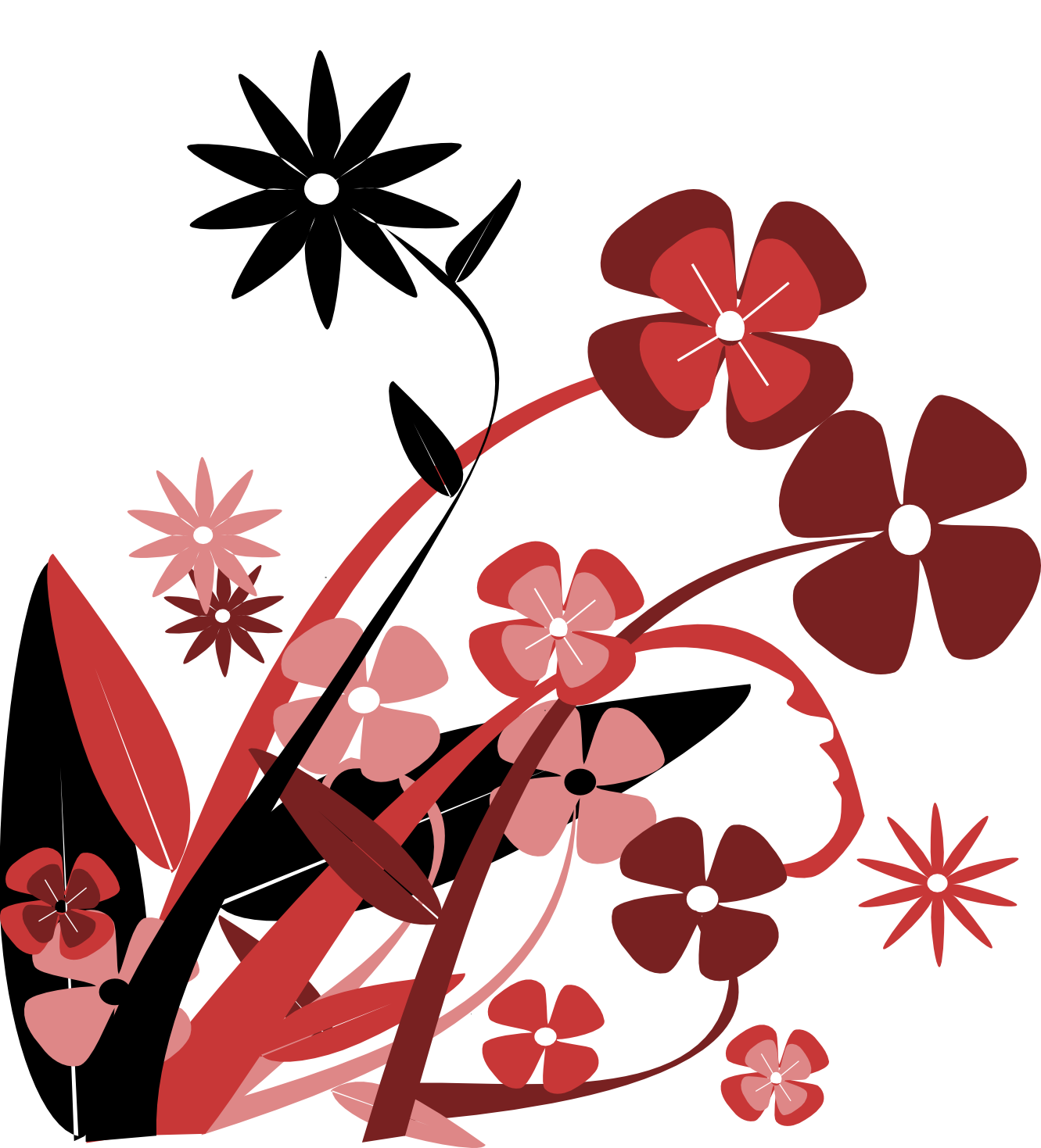 1331x1469 Abstract Flower Png 101 Clip Art