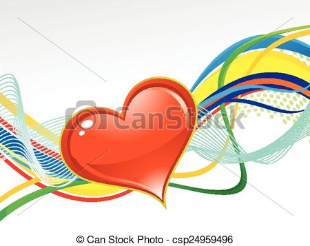 450x357 Abstract Artistic Colorful Love Background Vector Eps Vectors