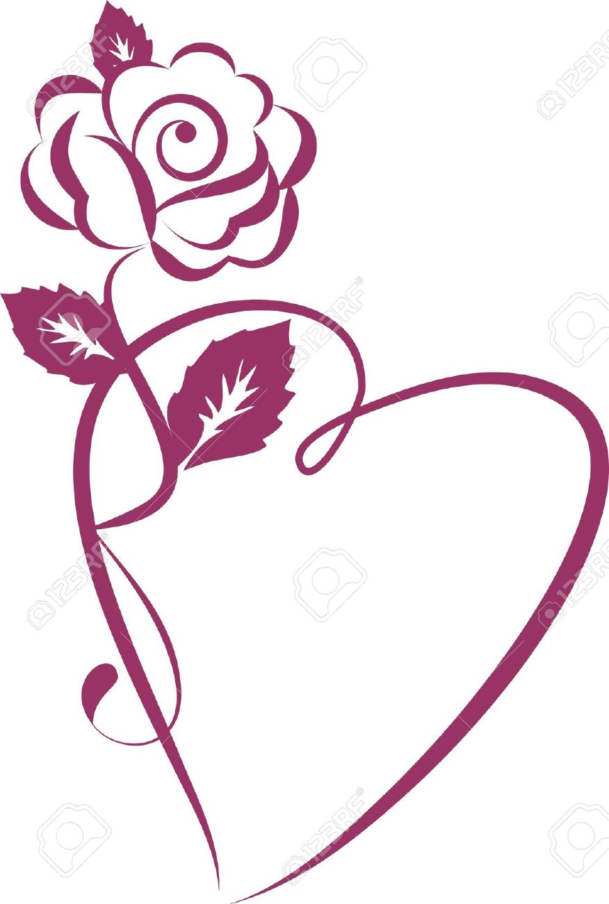 876x1300 Abstract Clipart Rose