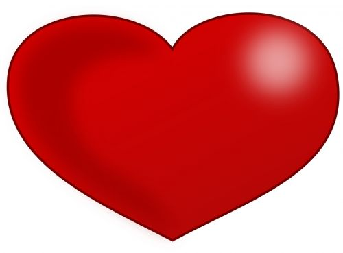 500x369 Free Photos Red Heart Clip Art Search, Download