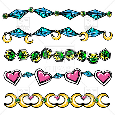 400x400 Hand Drawn Abstract Borders With Hearts And Diamonds Royalty Free