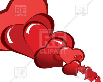 400x320 St. Valentine Day Abstract Background With Hearts Royalty Free