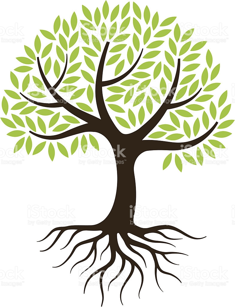 785x1024 Free Black White Clipart Tree With Roots Amp Free Black
