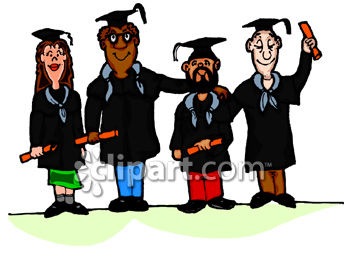 350x258 Diverse Group Of Adults Graduating From School Clip Art