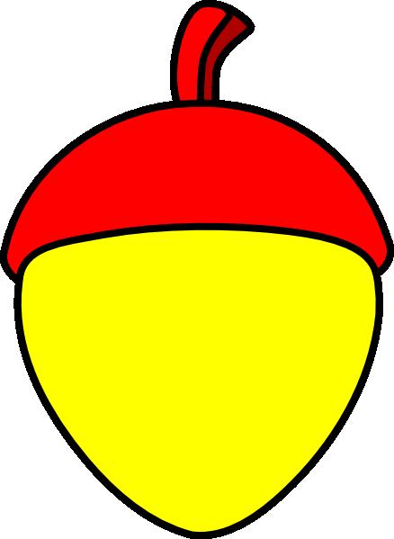 438x599 Yellow Acorn With Red Cap Clip Art