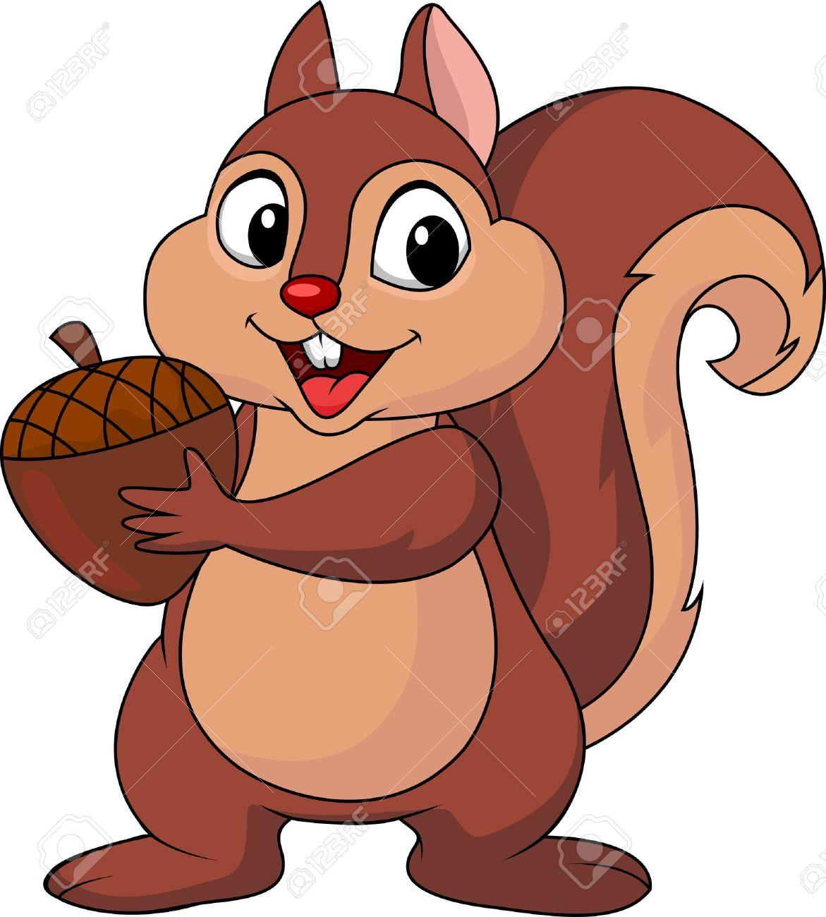 1171x1300 Cute Squirrel Clipart Cute Squirrel With Acorn Png Cartoon Clipart