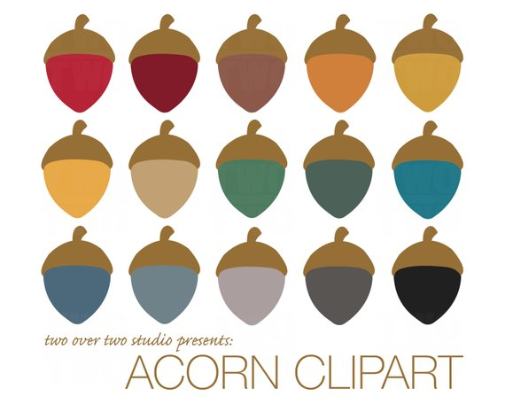 570x456 Acorn Clipart Fall Clip Art Autumn Instant Download In Fall