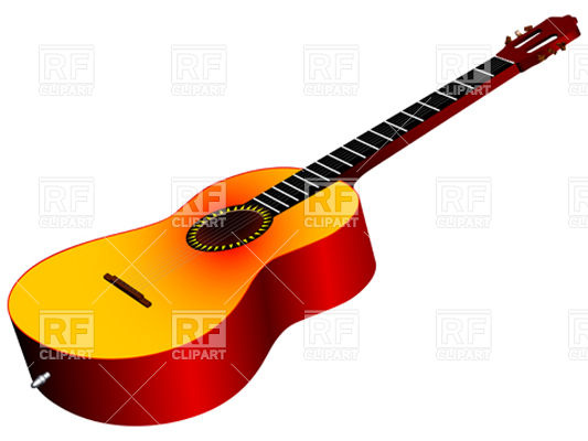 533x400 Generic Acoustic Guitar Royalty Free Vector Clip Art Image