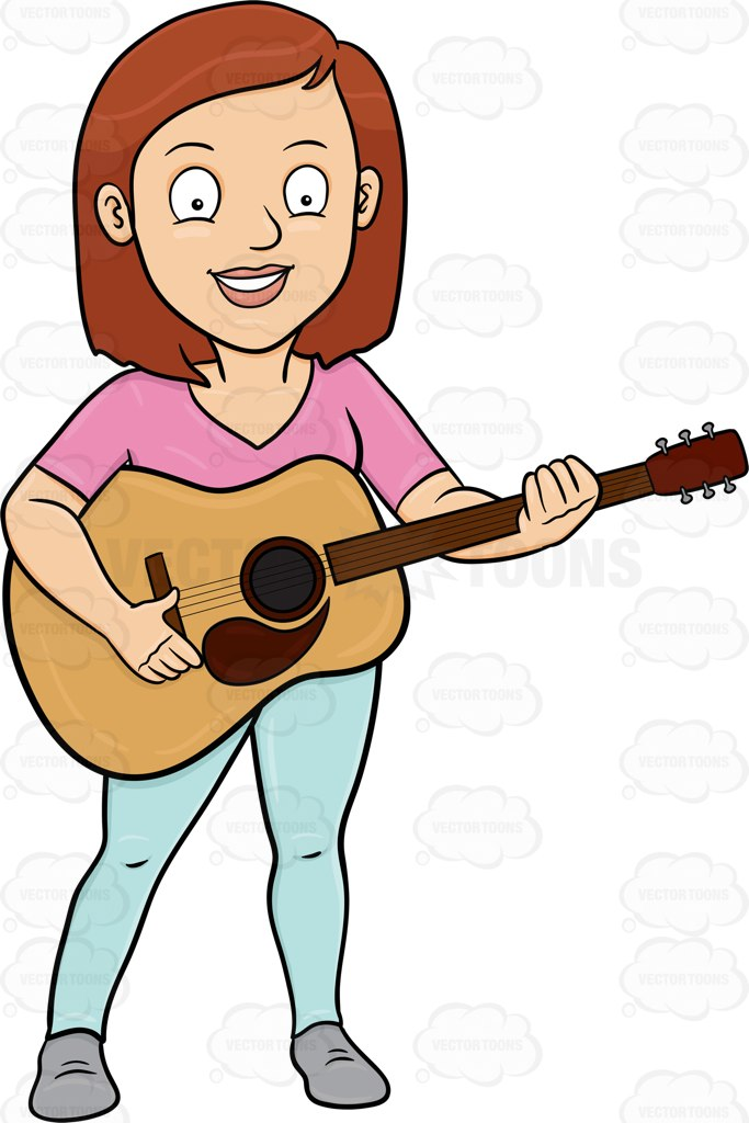 683x1024 Acoustic Guitar Clipart Vector Toons