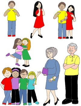 268x350 Kids In Action Pronouns Clip Art 48 Pngs By Rebekah Brock Tpt