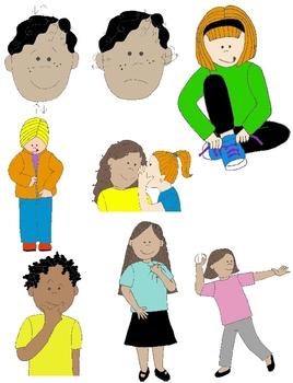 268x350 Kids In Action Verbs Illustrated Clip Art Bundle By Rebekah Brock