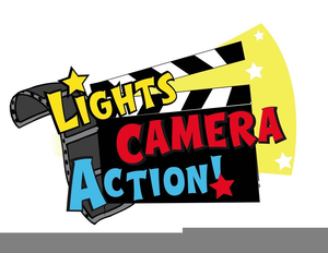 300x232 Lights Camera Action Clipart Free Images