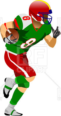 211x400 Silhouette Of American Football (Rugby) Player In Action