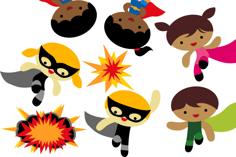1500x1000 Superhero In Action Clipart Jumping K Design Bundles