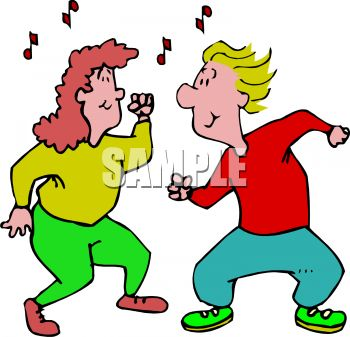 350x337 Action Moving Dancers Clipart