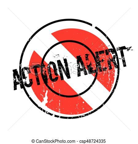 450x470 Action Alert Rubber Stamp. Grunge Design With Dust Vectors
