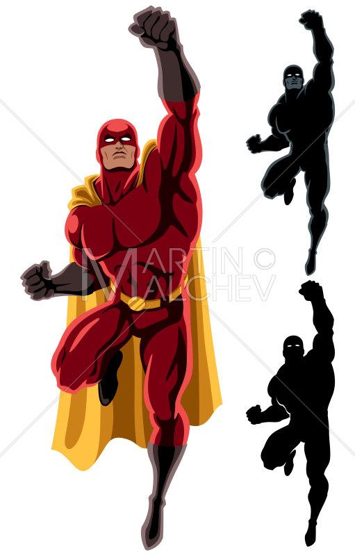 511x800 Superhero Flying