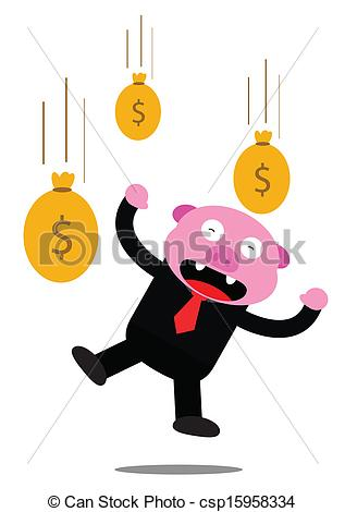 317x470 Illustration Vector Graphic Of Piggy In Business Activity Vectors
