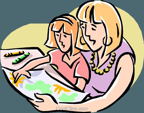 480x379 Paintingfamily Activity Royalty Free Vector Clip Art Illustration