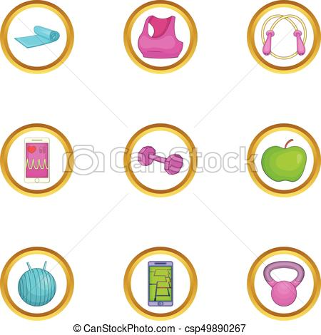 450x470 Activity Icons Set, Cartoon Style. Activity Icons Set . Clip Art