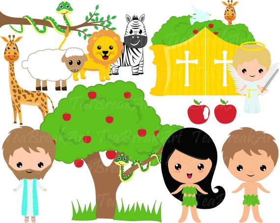570x455 Adam And Eve Clip Art Digital Clipart Graphics Bible Theme