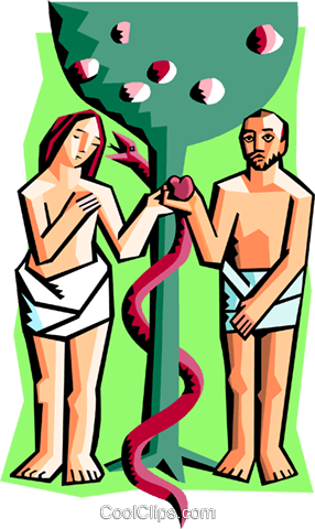 286x480 Adam And Eve Royalty Free Vector Clip Art Illustration Spec0300