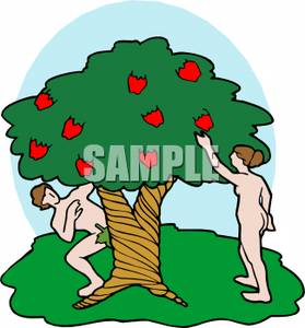 279x300 Adam And Eve Eating Fruit From The Forbidden Tree