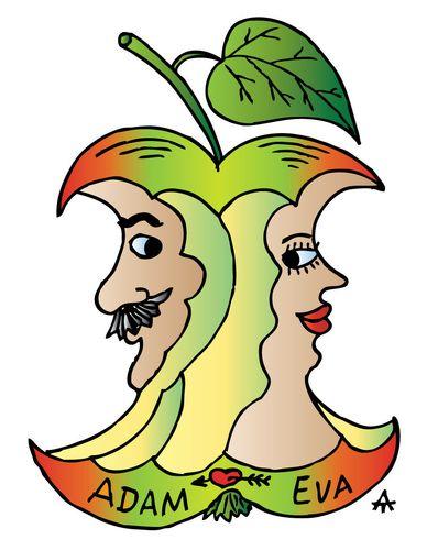 388x500 Adam And Eve Cartoon Cartoon Adam And Eve (Medium) By Alexei
