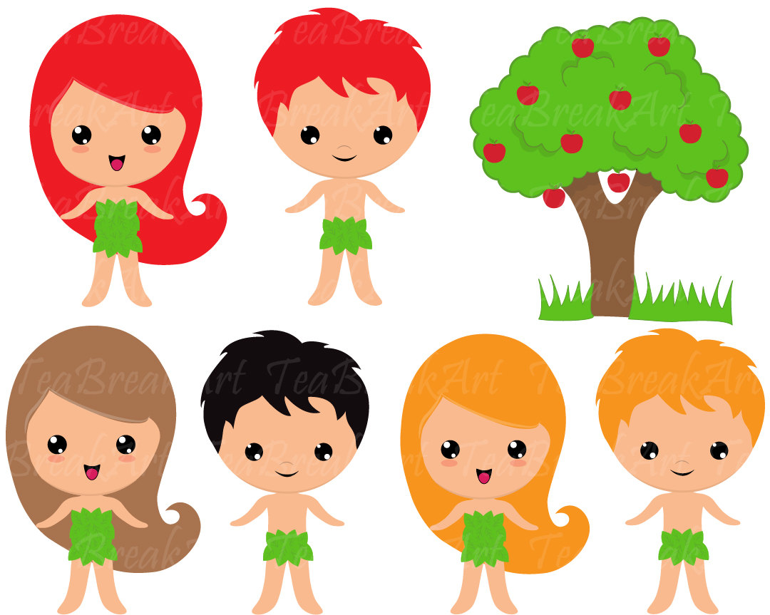 1080x863 Adam And Eve Clip Art Digital Clipart Graphics Bible Theme Digital