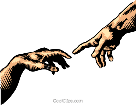 480x370 Hand Of God, The Creation Of Adam Royalty Free Vector Clip Art