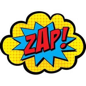 300x300 Zap Pow Super Hero Words Black And White Clip Art